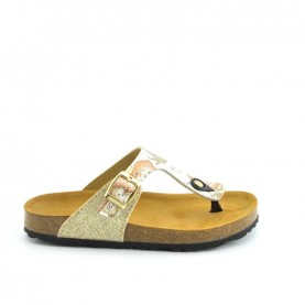 Alviero Martini N0414 woman milk and geo flip flop