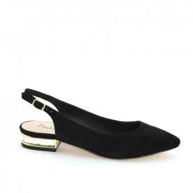 Menbur 09571 black slingback shoes