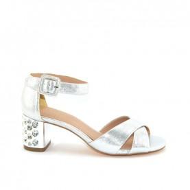 Menbur 20346 silver glitter sandals