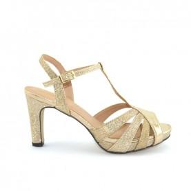 Menbur 09556 platinum glitter sandals