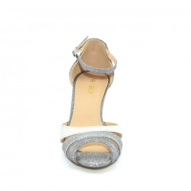 Menbur 07932 multi silver glitter sandals