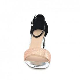 Menbur 20245 rose and black sandals