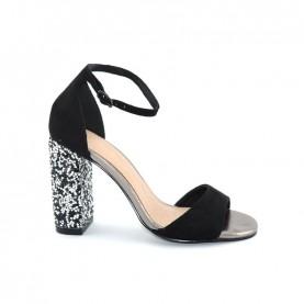 Menbur 20123 black high heels sandals