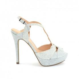 Menbur 20288 silver glitter sandals