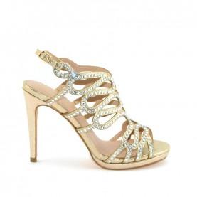 Menbur 20060 gold high heels sandals