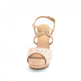 Menbur 20414 even rose sandals with strass