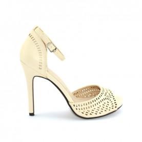 Menbur 09368 beige high heels sandals