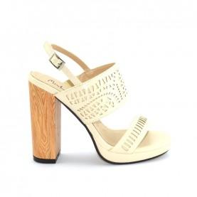 Menbur 09552 beige high heels sandals