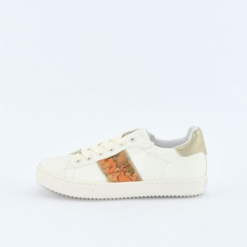 Alviero Martini 10192 geo beige and white sneakers