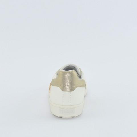 Alviero Martini 10192 geo beige and white sneakers