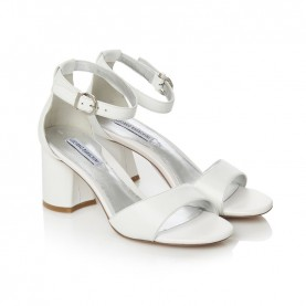 Barachini CC202N white medium heels sandals