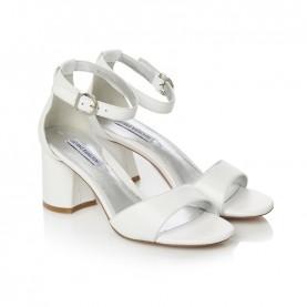 Barachini CC202N white medium heels sandals