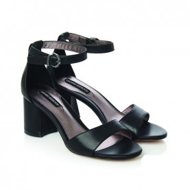 Barachini CC202S black medium heels sandals