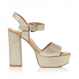 Barachini CC211H platinum crack high heels sandals