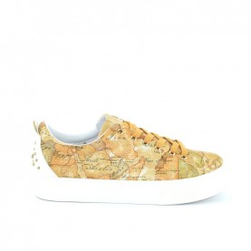 Alviero Martini 10200 geo beige lamè sneakers