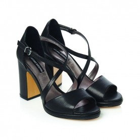 Barachini CC221S black medium heels sandals