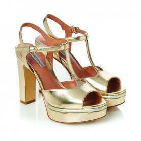 Barachini CC231X platinum high heels sandals