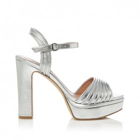 Barachini CC233K silver high heels sandals
