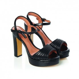 Barachini CC233V black high heels sandals