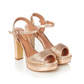 Barachini CC233Z peach high heels sandals