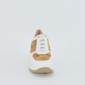 Alviero Martini N0291 white geo beige sneakers