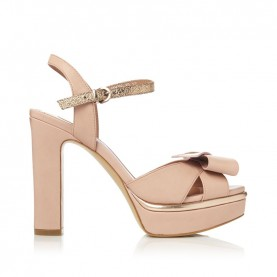 Barachini CC235C powder pink high heels sandals