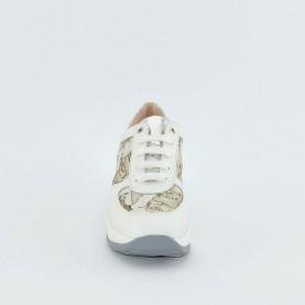 Alviero Martini N0292 white geo sneakers