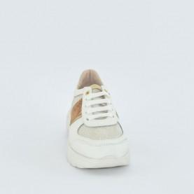 Alviero Martini N0277 white geo glitter sneakers