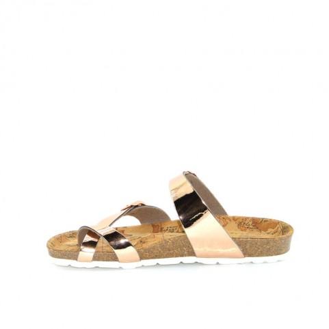 Alviero Martini 10226  gold rose flip flops sandal