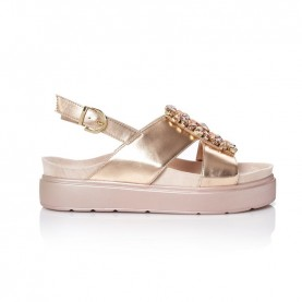 Barachini CC739Z peach wedge sandals