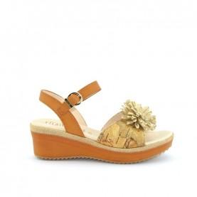 Alviero Martini N0318 geo beige wedge sandal