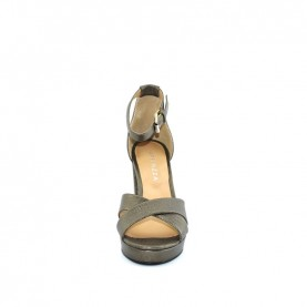 Apepazza RTS06 gun metal hells woman sandals
