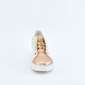 Apepazza SMW13 white and powder pink woman sneakers