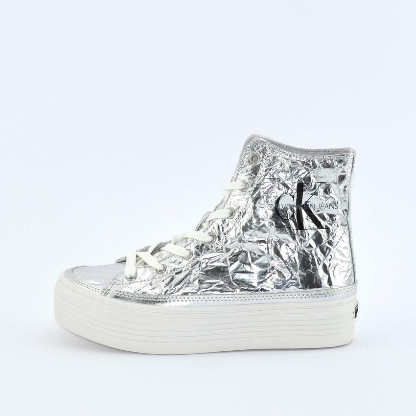 designer fashion e4c58 ac38e Calvin Klein Zabrina sneakers da donna argento