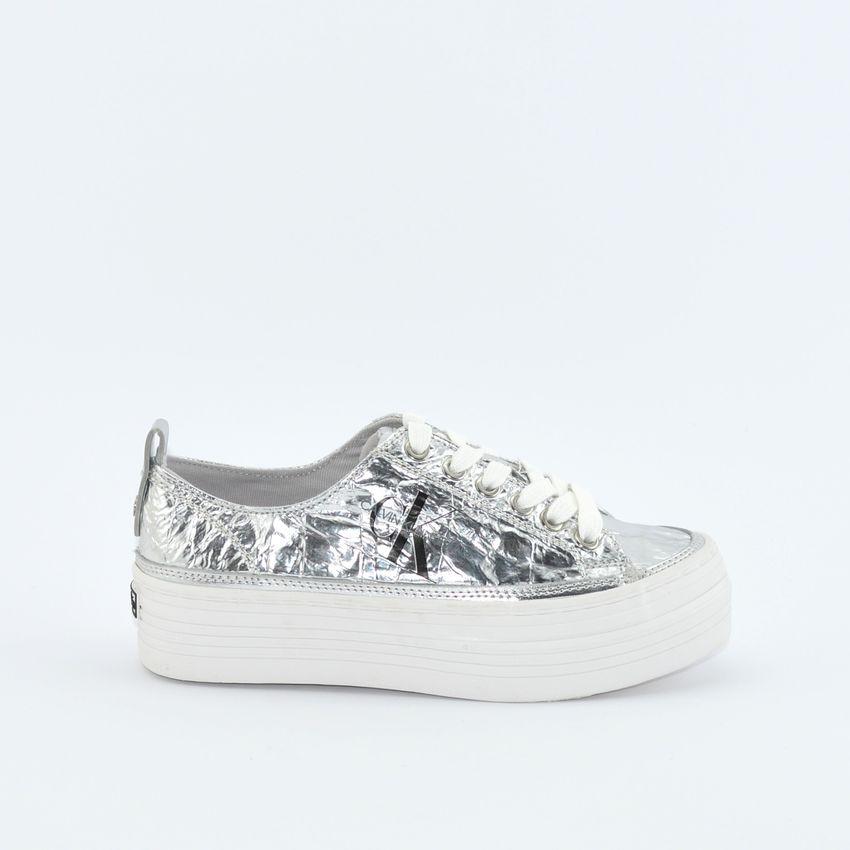 newest 80567 9d243 Calvin Klein Zolah sneakers da donna argento