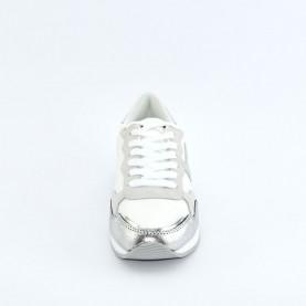By Byblos 2WA0067 silver logo sneakers