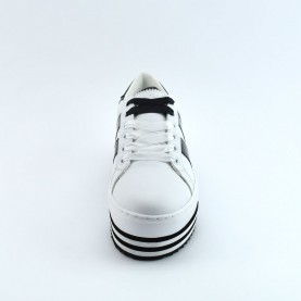 By Byblos 2WA0006 platform white and black sneakers