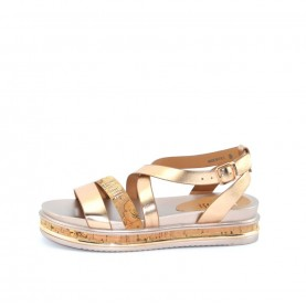 Alviero Martini 10215  gold rose sandal
