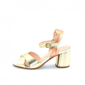 Tiffi A25/60Z platinum laminated leather medium heels sandals