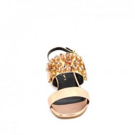 Tiffi P421/30 gold rose leather medium heels sandals