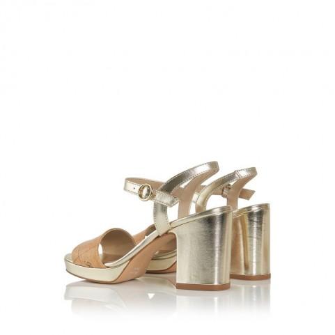 Alviero Martini E859 geo beige and platinum medium heels sandal