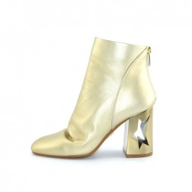 Tiffi GR52/80S platinum leather star heels ankle boots