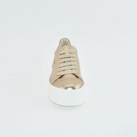 Alviero Martini Z1346 nude laminated sneakers