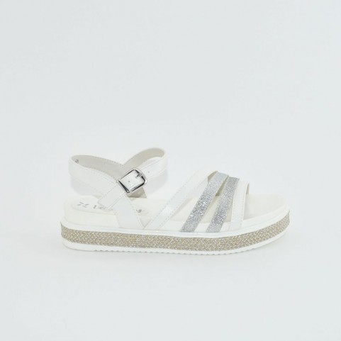 Lolway Melany girl white/silver sandals