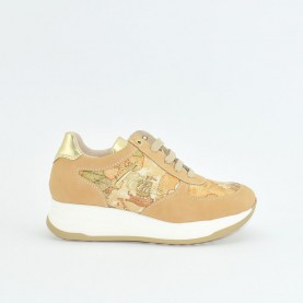 Alviero Martini N0626 sand and geo beige sneakers