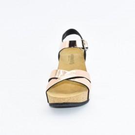 Goldstar 1401TT woman gold wedge anatomical sandals