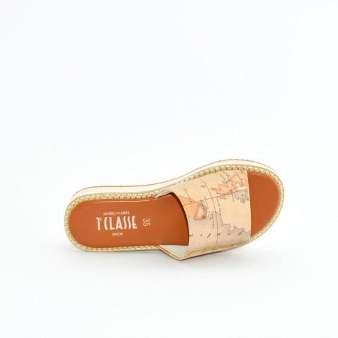 Alviero Martini 10588 geo beige sandals