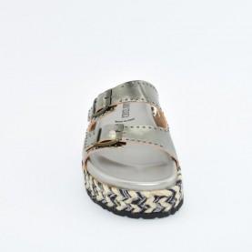Anna Fidanza SV02 gun metal sandals