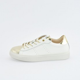 Morelli 50370 platinum and white sneakers