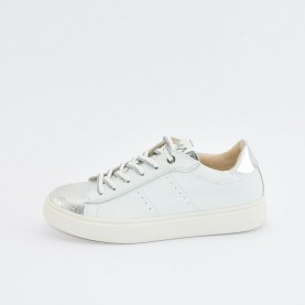 Morelli 50370 silver and white sneakers